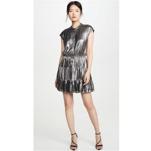 Rebecca Minkoff Ollie Dress Metallic Dress Sz xs